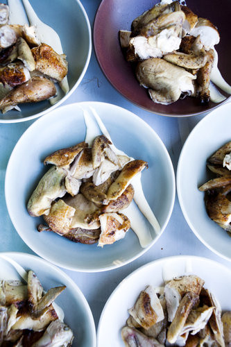 As every legit photographer should, Milliron shares his picnic pics, too. Here, some roasted chicken and sauce make a pretty great meat pattern.
