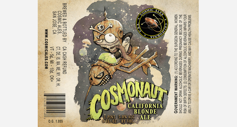 I like the trippiness of the Cosmic Ales labels; this one is particularly out there.