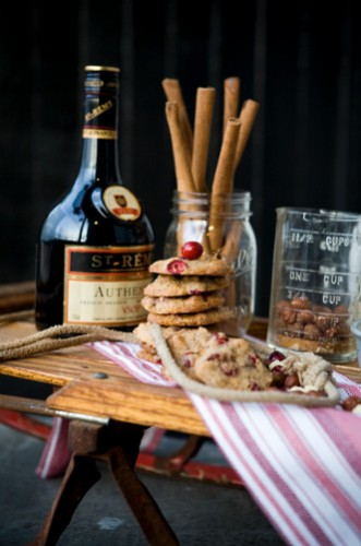 Milliron shot these white chocolate and cranberry cookies in his own studio window for foodie blog With the Grains.