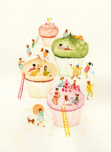 It's an entire neighborhood of cupcake mountains, just like you dreamed of as a kiddie.