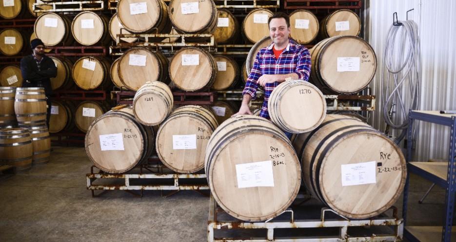 Brian with his barrels