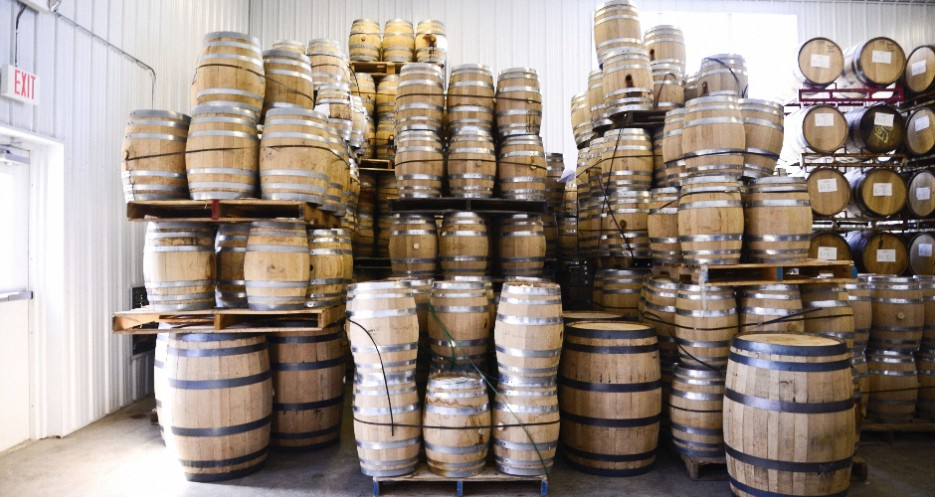 The distillery uses charred oak, as well as spent bourbon and sherry barrels, depending on what it's aging.