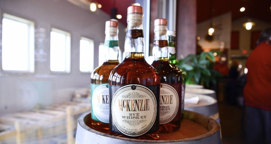 The McZenzie Rye, Bourbon, and Pure Pot Still Whiskey