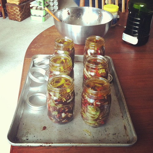 The fridge pickles from Marisa of