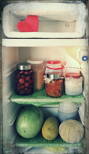 This fridge-freezer combo is actually pretty sketch, but we'll accept it as fridge art.