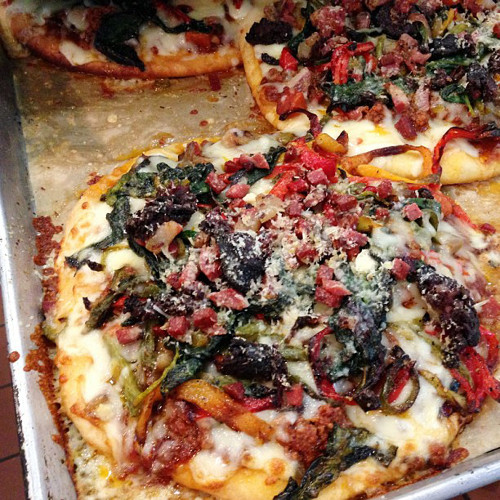 This meat lovers pizza from