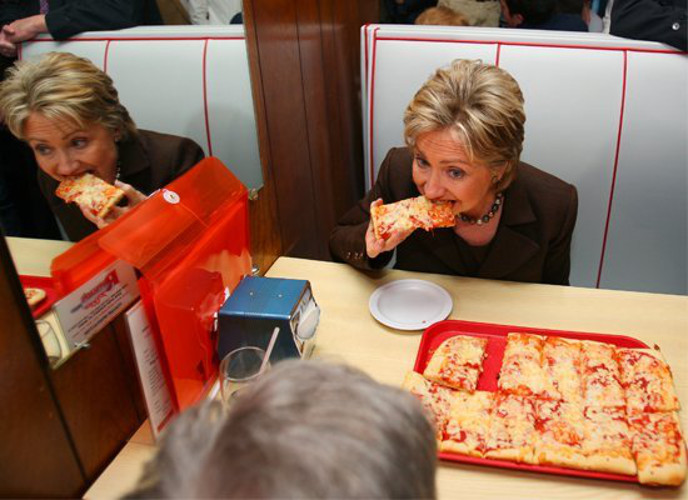 Why It's Awesome: #VintageHillaryClinton eating anything is pretty awesome. And she usually manages to do so while never smiling, ever.
