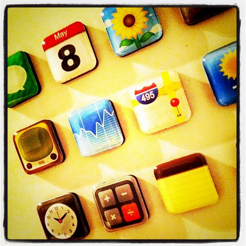 iPhone app magnets! Genius.
