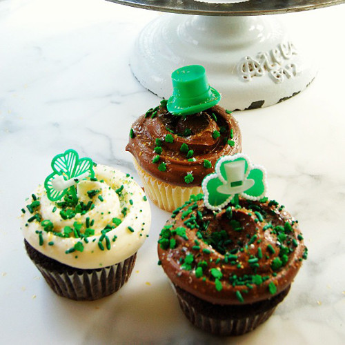 Oh hi, St. Patty's Day cupcakes from