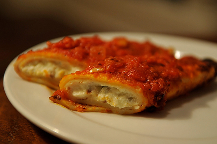 Jennie's Homemade Manicotti. A truly unique take on baked pasta, this crepe-style manicotti recipe requires a little faith, but not all that much work considering the brilliant results. Just whiz the batter up in a blender, and then all you need to do is crank out 10 or so crepes to roll around a simple mixture of ricotta, eggs, parsley and parmesan. Don't skimp on the ricotta or marinara sauce -- you'll be doing these delicate, creamy manicotti (and yourself) a huge disservice.