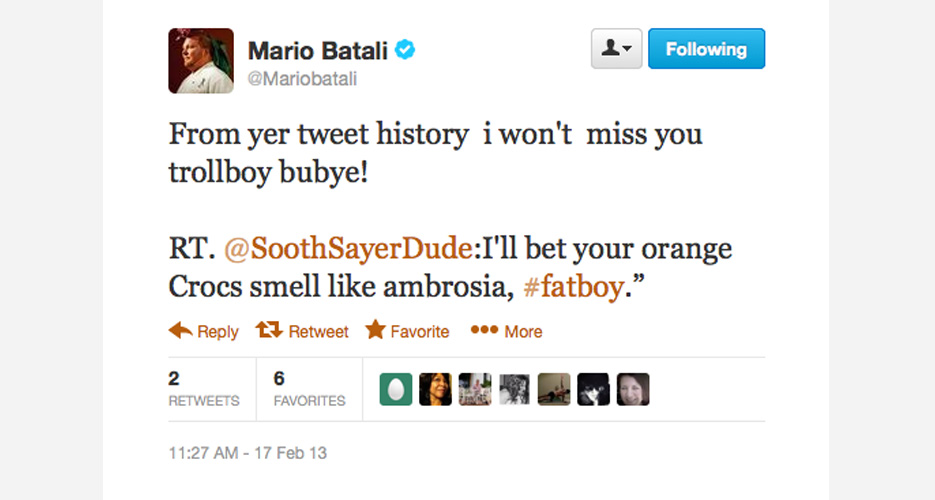 Batali is no reactionary—he does the research to make sure you really do suck as much as it would appear.