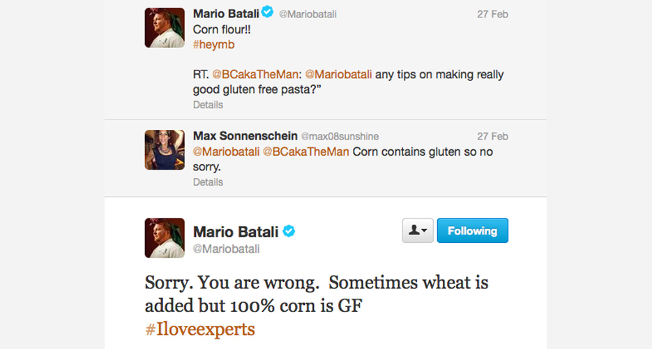 Say what you will about Batali, but the man's an encyclopedia of culinary knowledge. Test him and you will get served.