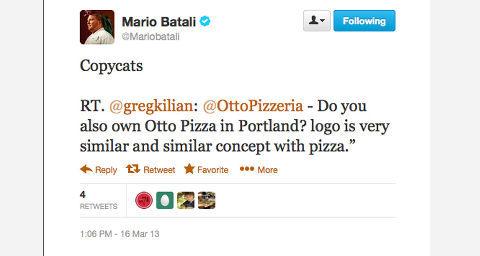 Sorry Otto Pizza in Portland, you've been publicly served.