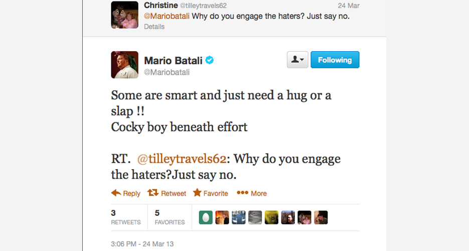 And just like that, Batali explains why he even bothers in the most magnanimous way possible. #FIN
