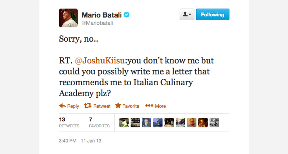 Professor Batali has spoken, and you are officially a herb.