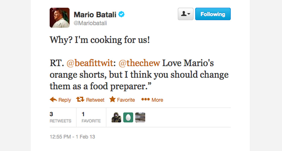 Batali's a hospitality vet, so he knows when to kill 'em with kindness.