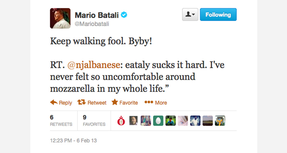 Mario literally doesn't give a shit if you like Eataly—8 million other people do!
