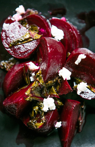 This roasted beet salad with goat cheese is also very grown up.