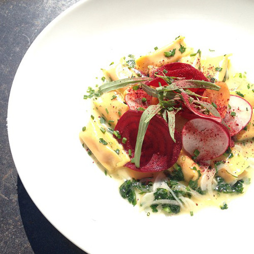 Atlanta-based food writer and photographer Broderick eats pretty well. Here, some beet and goat cheese agnolotti. (Photo: