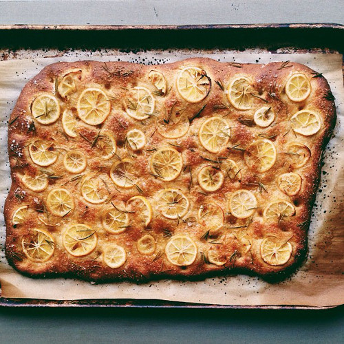 @food52 inspired this aesthetically perfect Meyer lemon focaccia. (Photo: @sladenburger)
