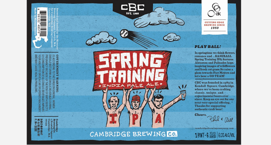I don't even like baseball, but this got me excited for baseball-season beers.