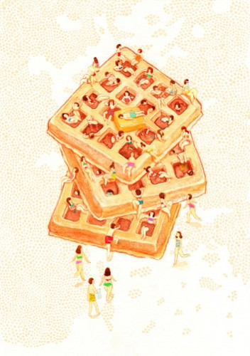 """This one is called """"Waffle Spa."""" Does it remind anyone else of The Crag?"""