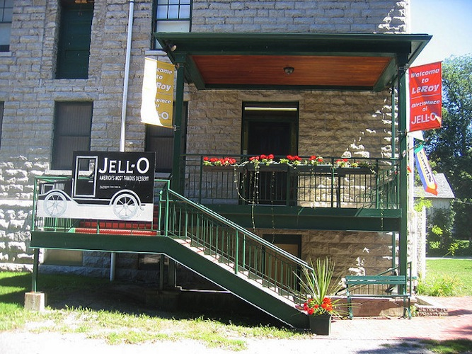 The Jell-O museum, located in Le Roy, NY, contains more than you probably ever wanted to know about the gelatin dessert. (Source)