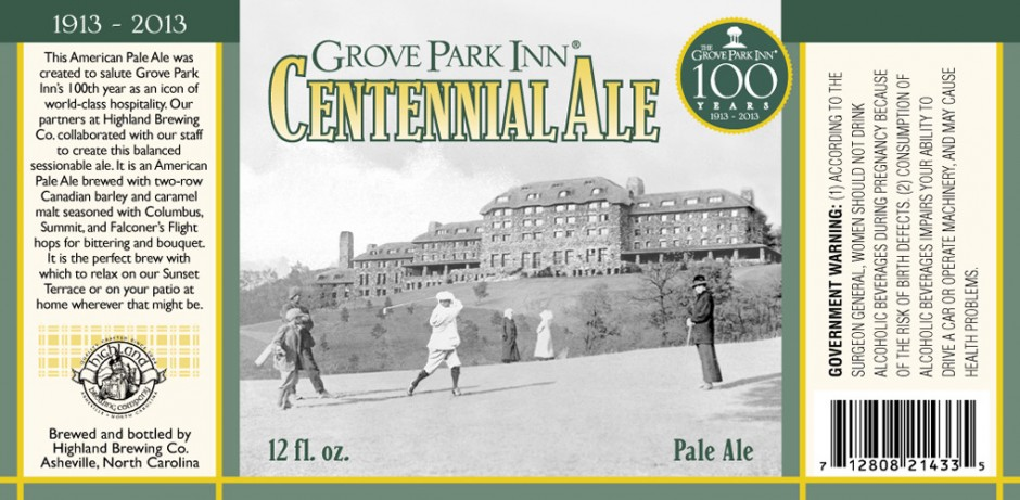This is not new this week but somehow I missed it last month. This was brewed specially for the Grove Park Inn in North Carolina, which has hosted the likes of Eleanor Roosevelt and F. Scott Fitzgerald. Very cool.