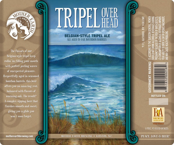 """The flavors of our Belgian-style tripel keep rollin' in; filling your mouth with perfect peeling waves of unexpected pleasure."" Any brew that references surfing is alright by me."