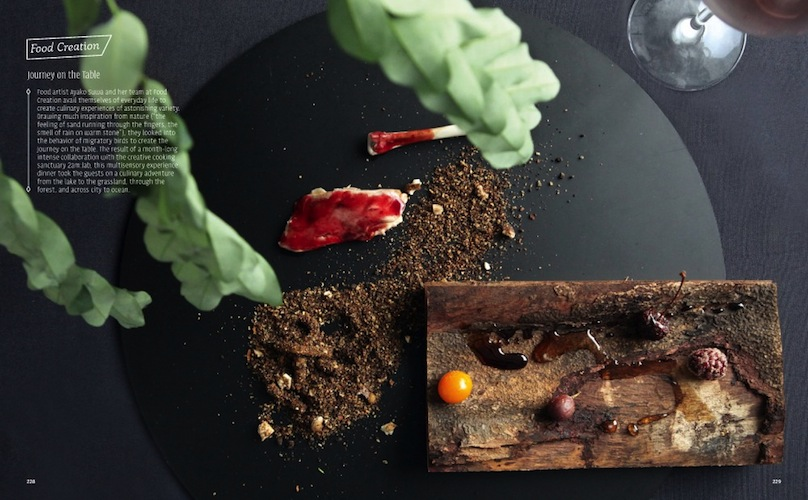 A culinary creation by food artist Ayako Suwa.