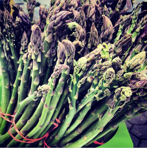 While everyone is clamoring for ramps, Kate finds the first asparagus of the new season at Dag Hammarskjold Plaza.