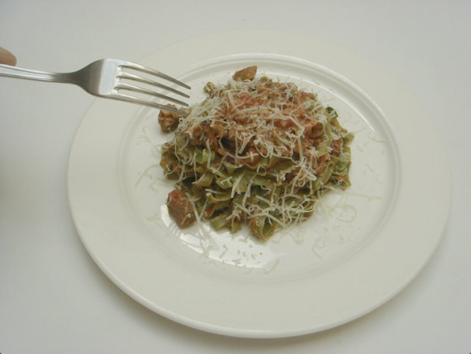 How about stinging nettle fettucine with lamb ragu? (Photo: @BabboRistorante)