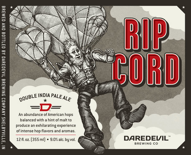 American hops. High ABV. A parachuting Abe Lincoln. Source: Beer Pulse