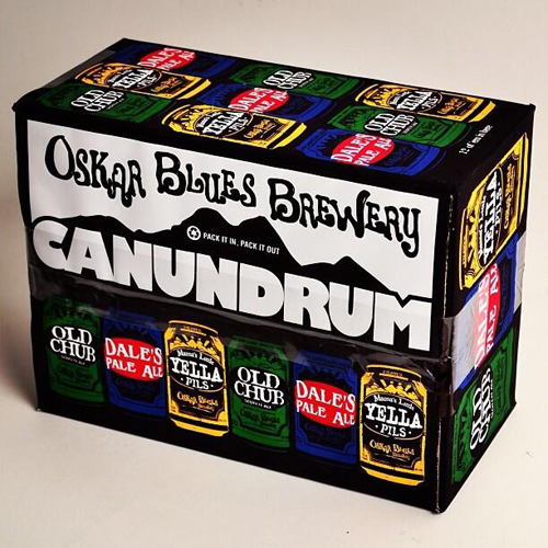 Oskar Blues mixed Canundrum pack.