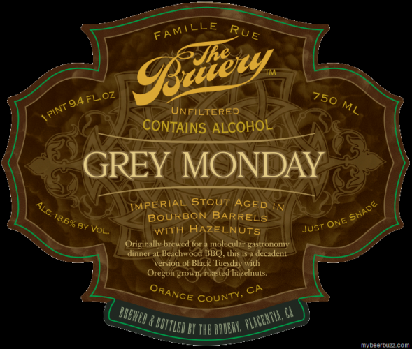Here's another coveted bottle from the Bruery: A spin on the cultish Black Tuesday, aged in bourbon barrels with hazelnuts.