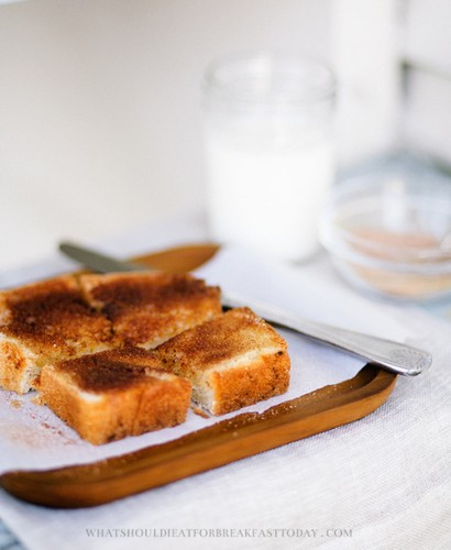 Um, does anyone else remember cinnamon toast as the best childhood breakfast ever until the actual cereal came out?
