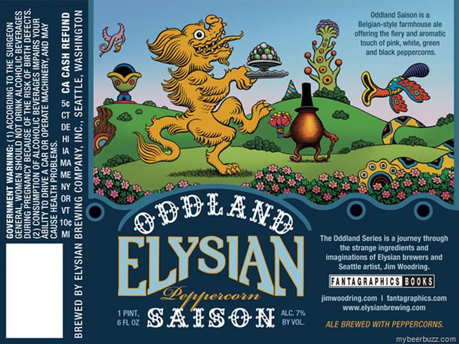 Next month, Elysian is launching this awesome collaboration series with Seattle artist Jim Woodring. Elysian comes up with a beer with weird ingredients, Woodring creates sketches based on those ingredients, then the brewers tweak the final recipe based on the imagery.
