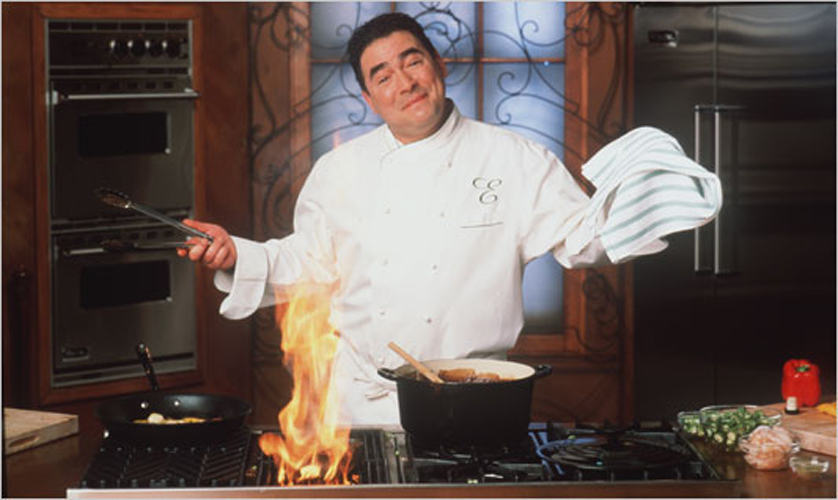 """Essence of Emeril"" launched on the Food Network in 1995. It was the chef's first hit. His two previous programs (How to Boil Water and Emeril & Friends) were failures. (photo: foodnetwork.com)"
