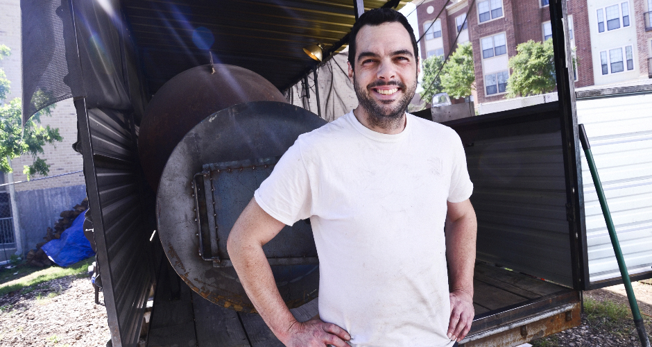 Aaron Franklin and the smokers that have made him famous.