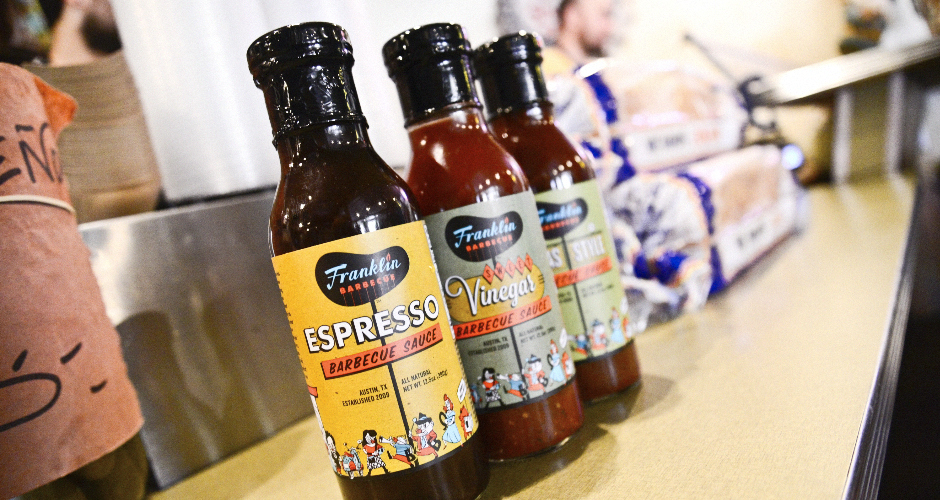Franklin sauces are now sold at 150 HEB stores across Texas.