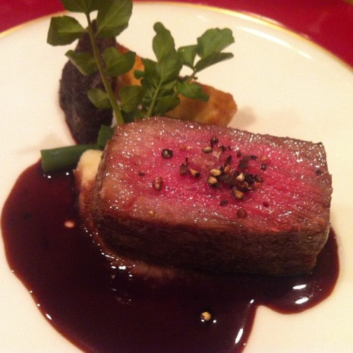 Chef Takano's ridiculous spit-cooked wagyu.