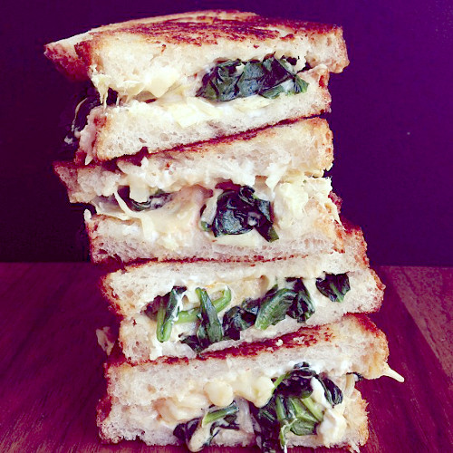 """""""Do not disturb"""" is in fact the perfect caption for this grilled cheese. (Photo: @joythebaker)"""