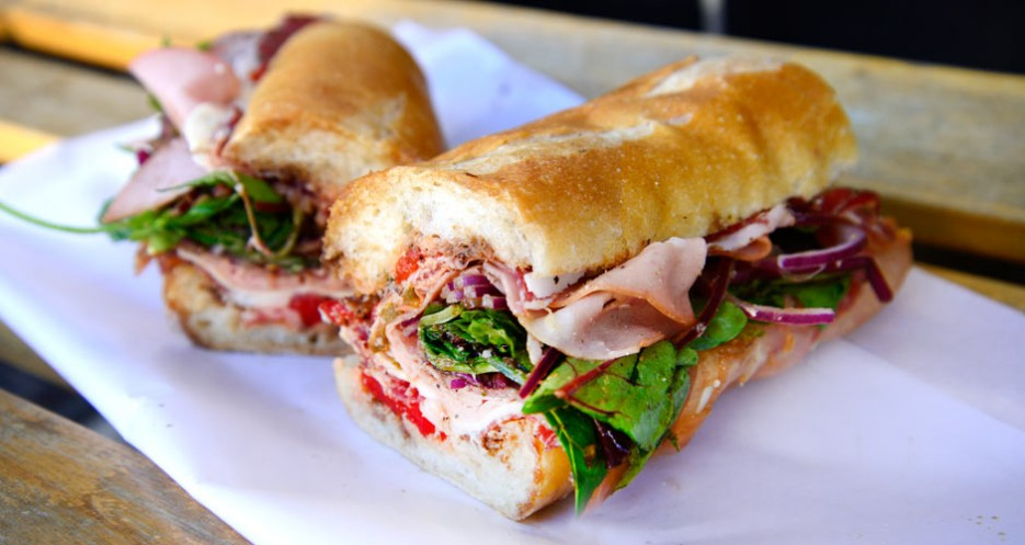 The Godfather sandwich is a constant favorite at the shop.