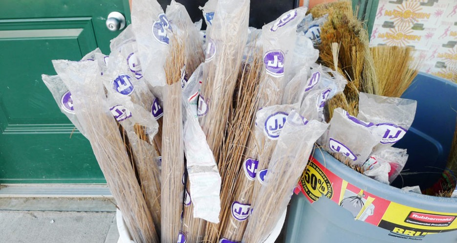 You can buy a handmade straw broom in Jersey City's Little India. If you happen to be a witch, get on it and ride.