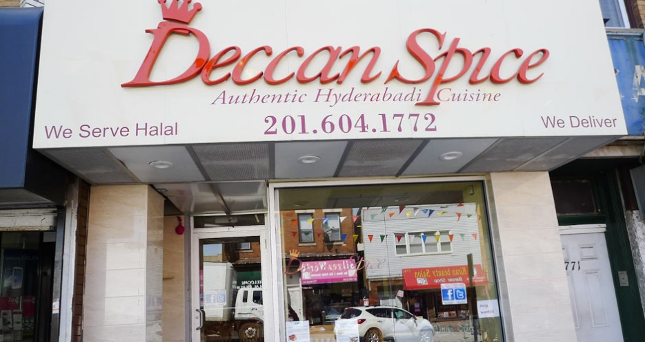 Deccan Spice (771 Newark Ave, 201-604-1772) specializes in the oft-meaty food of the southern city of Hyderabad.