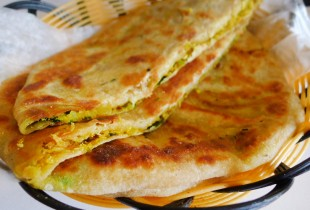 Radish-stuffed paratha at Deccan Spice is a breath of spring.