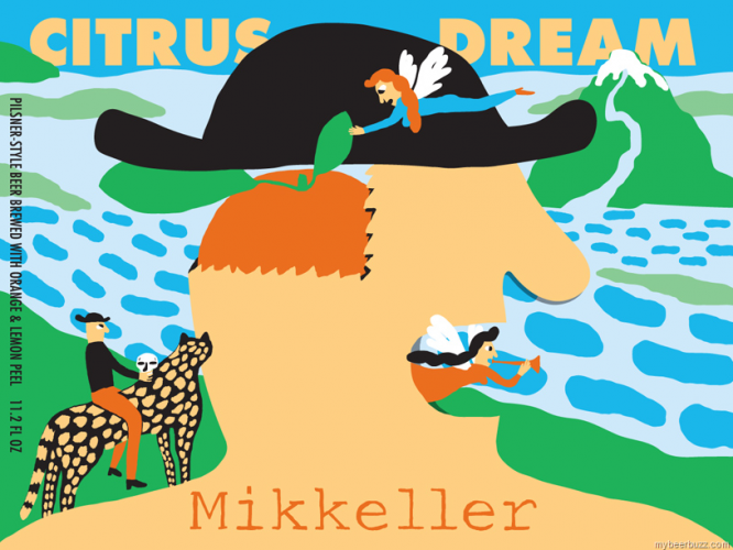 Illustrator Keith Shore kills it yet again for Mikkeller. Awesome colors.