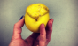 This mutant lemon at Quinciple has a mohawk.