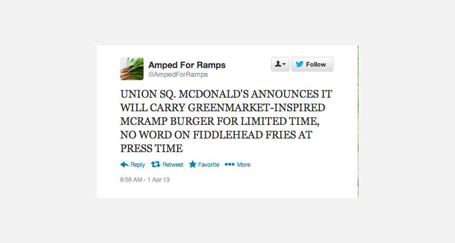 Note that the Twitter account @AmpedForRamps exists.