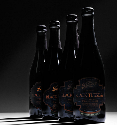 The Bruery Black Tuesday vertical, 4 bottles (Lot 220, $400-600)